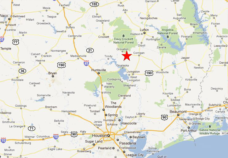 Location Directions Pineywoods Camp